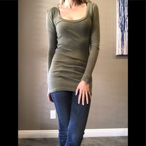 Michael Stars Olive Stretchy Tunic